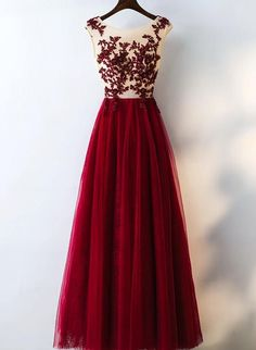 Prom Dress Beautiful, Elegant Burgundy A-Line Lace Tulle Prom Dresses Beautiful Party Dresses, Discover your dream prom dress. Our collection features affordable prom dresses, chiffon prom gowns, sexy formal gowns and more. Find your 2020 prom dress Evening Dress Long, Cheap Evening Dresses, A Line Prom Dresses, Tulle Prom Dress, Cheap Prom Dresses, Lace Dress, Bridesmaid Dresses, Formal Dresses, Tulle Lace