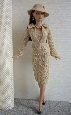 Barbie clothes barbie crochet dress for barbie doll crochet etsy – Artofit Barbie Knitting Patterns, Barbie Patterns, Doll Clothes Patterns, Clothing Patterns, Crochet Doll Dress, Crochet Barbie Clothes, Knit Dress, Barbie Mode, Barbie Dress