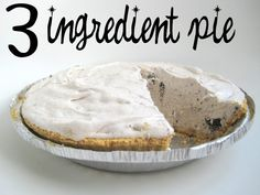 Do you love cookies and cream? I bet you don't love it as much as Andy! He really, super duper, extra loves cookies and cream ice cream. (And chocolate malts.) This pie is a cookie and cream lovers dream, but my favorite part is you only need 3 ingredients… yep, 3! You need a pie …