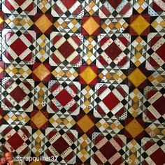 Allietare love from @scrapquilter37 : Quilt Camp Day 4 finish.. a close of my Allietare mystery quilt. Kinda looks like a Stainglass window or a tile floor #quiltvillemystery2015 . . this photo popped up as soon as I logged in at the top of my feed! this makes me so happy! What a great finish! Do you realize that our 2016 winter Mystery begins a week from tomorrow? Who is ready? I am so happy! . . #quilt #quilting #patchwork #quiltville #bonniekhunter #allietarequilt #quiltsbyyou #quiltvi...