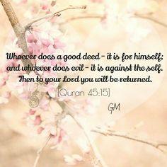 Quran Al-Jāthiyah (The Crouching) 45:15