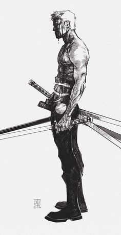 Manga Character Drawing One Piece, Roronoa Zoro.