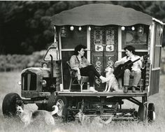 Life on a gypsy wagon form http://urbanoptimist.com/2011/01/03/lets-abandon-society-buy-a-gypsy-caravan-and-write-poetry-in-the-forest/# (photo by Peter Malloy)