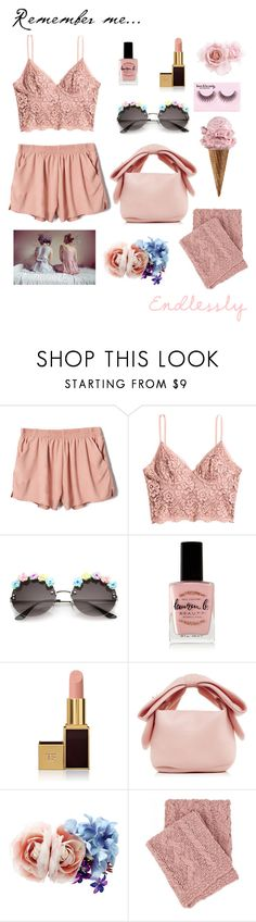 """""""Remember Me"""" by alongcametwiggy ❤ liked on Polyvore featuring H&M, Lauren B. Beauty, Tom Ford, Simone Rocha, Accessorize, Pine Cone Hill and Forever 21"""