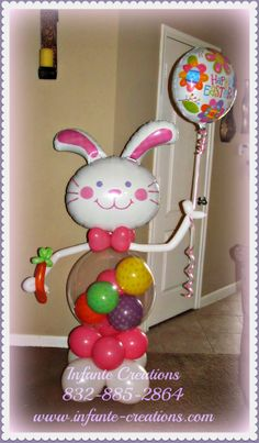 Easter Bunny  #Easter #Bunny #Balloons #Qualatex #Bubble #Polkadots