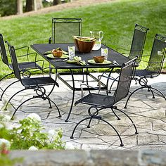 Garden Oasis Auburndale 7 Piece Spring Motion Dining Set