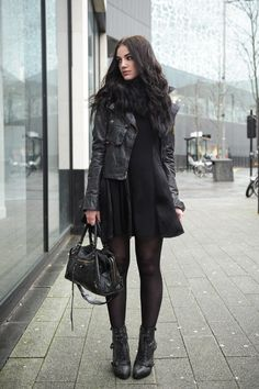 Fashion blogger Stephanie of FAIIINT wearing Belstaff waxed cotton sammy miller jacket, faux fur snood, This Is A Love Song ( TIALS ) pom po...