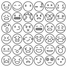 Find Set Doodled Cartoon Faces Variety Expressions stock images in HD and millions of other royalty-free stock photos, illustrations and vectors in the Shutterstock collection. Cute Doodle Art, Cute Doodles, Doodle Cartoon, Cartoon Faces, Free Vector Illustration, Graphic Illustration, Free Emoji, Dibujos Tumblr A Color, Text Symbols