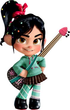 Vanellope & Her Guitar by Levitas [©2012]