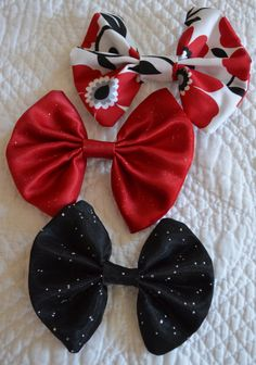 Handmade hair bows  you pick 4 for 20 by TheSweetBeanBoutique, $20.00 with FREE SHIPPING