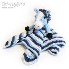 Horse Lovey CROCHET PATTERN instant download - blankey, blankie, security blanket