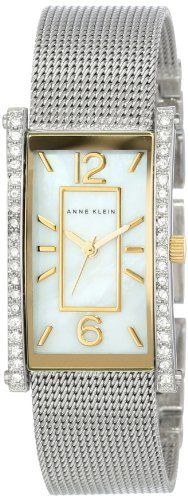 Anne Klein Women's AK/1271MPTT Two-Tone Swarovski Crystal-Accented Watch