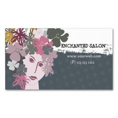 302 best feminine business cards images on pinterest business card female feminine blooming spring flower goddess business card template colourmoves