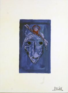 I am an adorable artist  Pigments, oil, ink on shimmed paper, 1995, 44x26 cm