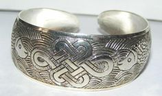 Wide Antiqued Tibet Cuff Bracelet Free Shipping