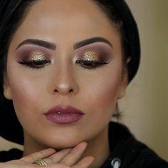 "Brows (@anastasiabeverlyhills "" Medium brown"") Eyeshadow (@morphebrushes ) Lips (@maccosmetics ""Mehr"") Foundation (@maccosmetics ""studio fix"" Contour (@opvlashes ) Highlighter (@Sleekmakeup Cleopatra's kiss ). Lashes (@lashqueen__ ""bella"" ) . #maccosmetics #instagood #photooftheday #arabiceyes #samerkhouzami #anastasiabeverlyhills #arabicmakeup #flawless #beauty #lips #eyeshadow #makeupartist #makyaj #makyoz #mua #hairdo #hairinsta #weddinghair #weddingupdo #vegasnay #hudabeauty…"