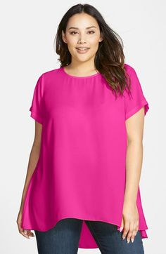 3f030e3f3fd Vince Camuto Short Sleeve High Low Hem Blouse (Plus Size) available at