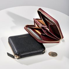 RFID Slim Wallets Credit Card Holder with Earbud Holders and Removable key-ring