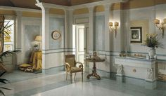 Bathroom tile / floor / ceramic / plain EDEN : VERDE Versace Ceramics