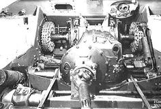 A Panther Ausf G with it's final drive and transmission assemblies being installed. The components would be matched to a Maybach HL 230 P30 engine assembly This Maybach engine was used installed in Panther, Jagdpanther, King Tiger and Jagdtiger chassis variants intil the P45 second generation motor was released.