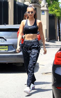 Bella Hadid from The Big Picture: Today's Hot Photos Sporty chic! The top model shows off her toned tummy while at The Grove in Los Angeles.