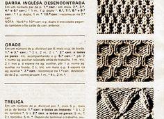 Artes Manhas e Artes Minhas - Tricô À Máquina - Tutoriais: 104) Pontos De Tricô À Mão(lindos!!!)