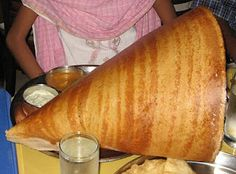 Extra Large Paper Masala Dosa with Potato curry from Chennai Garden, NYC