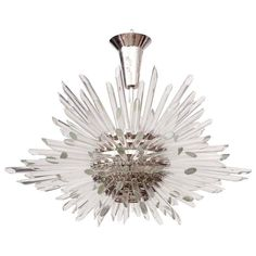 Glass Rod Sputnik Chandelier in the Style of Bakalowits | 1stdibs.com