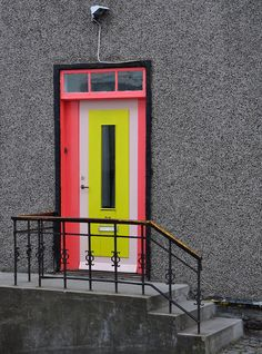 Door in Laugarvegur - Archirecture in Iceland is as creative as Bjørk's fashion. This colorful door was found along the main shopping street in Reykjavik, Iceland.