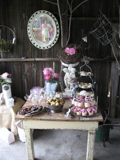 up in the attic: tea time at the Vintage Barn!