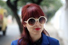 My Name is Glenn,  Designer Fashion Womens Oversize Super Round Sunglasses 8620