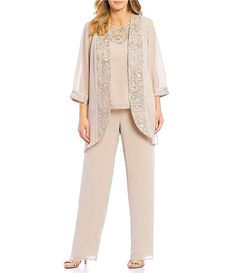 Shop for Le Bos Plus Size Embroidered Trim Duster Pant Set at Dillard's. Visit Dillard's to find clothing, accessories, shoes, cosmetics & more. The Style of Your Life. Mother Of The Bride Plus Size, Mother Of The Bride Suits, Mother Of Bride Outfits, Mother Of Groom Dresses, Bride Dresses, Plus Size Ivory Dresses, Plus Size Dresses, Plus Size Outfits, Scarf Wearing Styles