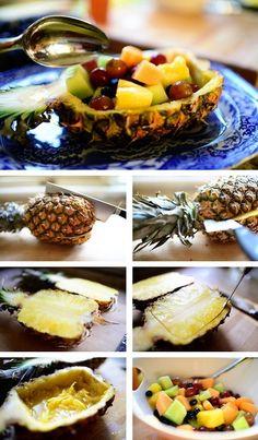 Postre con piñas, busca más ideas en http://www.1001consejos.com/recetas