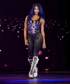 WWE ~PRINT SHORT PANTS SASHA BANKS SUPERSTAR DIVA WRESTLER DOLL BOTTOM ACCESSORY