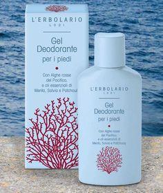 Gel Deodorante per i piedi Con Alghe rosse del Pacifico, e oli essenziali di Menta, Salvia e Patchoulyhttp://www.erbolario.com/prodotti/663_piedi_gambe_gel_deodorante_per_i_piedi