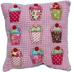 Cupcake Cushion - Applique design