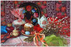 «Впечатления дороже знаний...» - Пасха в живописи... 6. Пасхальные натюрморты.
