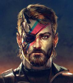 Metal Gear solid/David Bowie by Eliant Elias Metal Gear Solid Quiet, Metal Gear Solid Series, Snake Metal Gear, Mgs V, Kojima Productions, Snake Art, Gear Art, Comic Games, Video Game Art