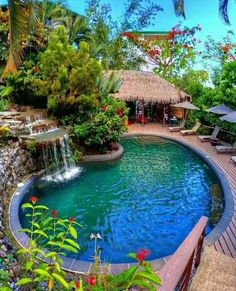 Pool Spa, Swimming Pools Backyard, Swimming Pool Designs, Pool Landscaping, Piscina Spa, Moderne Pools, Backyard Pool Designs, Backyard Ideas, Garden Ideas