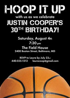 Free printable basketball themed party invitations best of basketball party invitation basketball birthday parties 13th birthday parties graduation parties 14th birthday filmwisefo