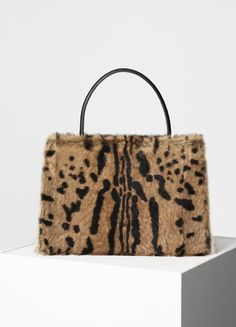 CÉLINE medium clasp bag in Printed Fur - Spring / Summer Runway 2017 |