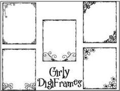 Photo DigiFrames: Girly Frames | YouCanMakeThis.com