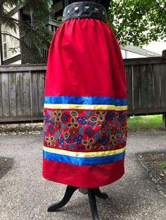 Diy Maxi Skirt, Shirt Skirt, Native American Clothing, Native American Fashion, Traditional Skirts, Traditional Outfits, Applique Skirt, Jingle Dress, Ribbon Skirts