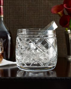 Brogan Crystal Ice Bucket - Ralph Lauren Home