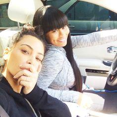 Kim Kardashian West and Blac China