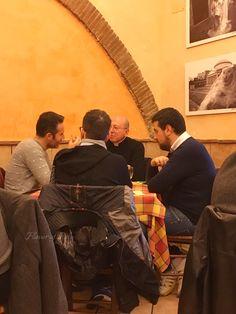Locals enjoying lunch at Trattoria Da Carmine, Naples