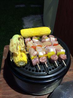 #cobb_sa this evening grilled corn and chicken! It smell goooooodd!!