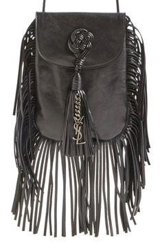 Saint Laurent 'Anita' Passementerie Calfskin Crossbody Bag