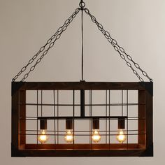 Filled with rustic splendor, our chic Rectangular Farmhouse Pendant Lamp makes a bold addition to your décor. >> #WorldMarket Farmhouse Chic