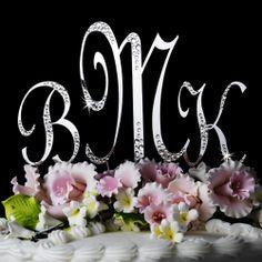 initial cake topper   Sparkle-Monogram-Cake-Set-WF, Monogram Wedding Cake Toppers